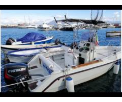 Barca 6 metri motore Evinrude 150 E-tec HO