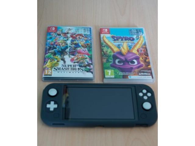 Nintendo switch lite grey + giochi