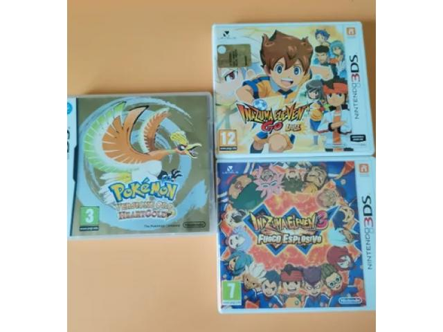 Pokemon heart gold, inazuma eleven 3 e GO