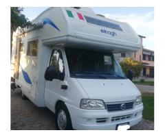 Camper mansardato 2002 revisionato Fiat 7 posti