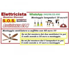 Lampadario applique plafoniera montaggio 19 euro Roma